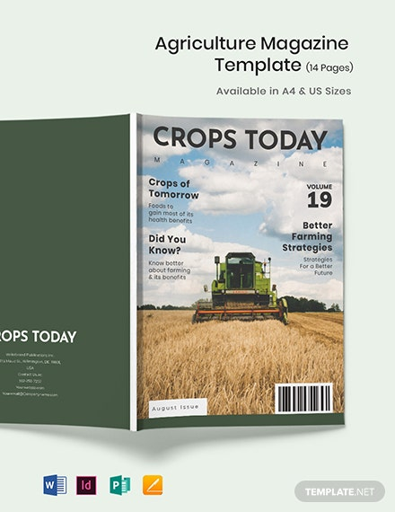 Agriculture Magazine Template