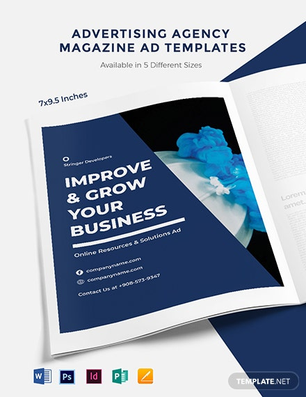 Free Advertising Agency Magazine Ads Template
