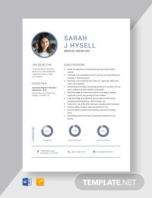Service Assistant Resume Template
