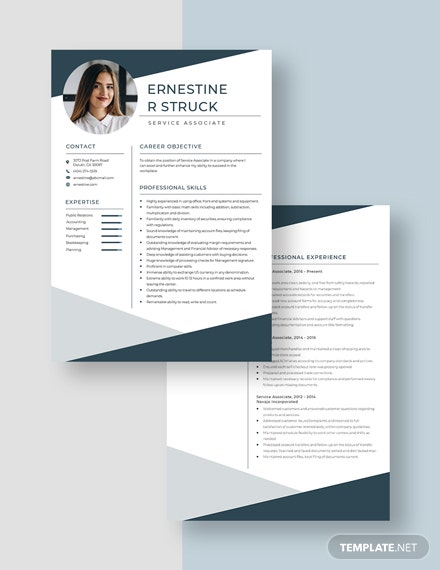 Service Associate Resume Download