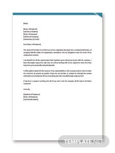 Official Resignation Letter