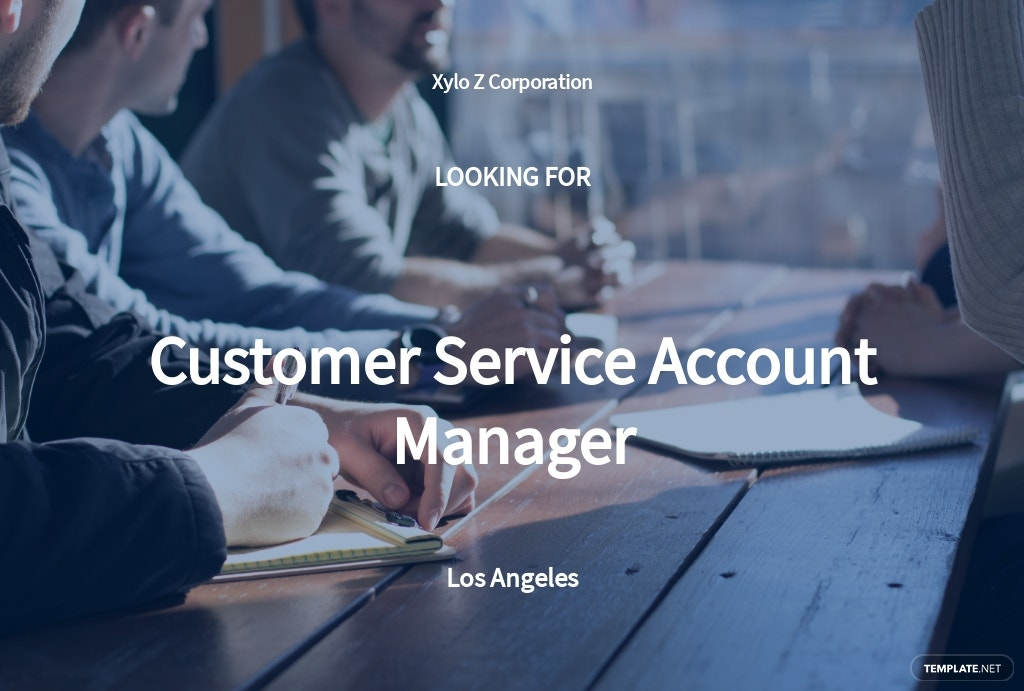 Customer Service Account Manager Job Description Template