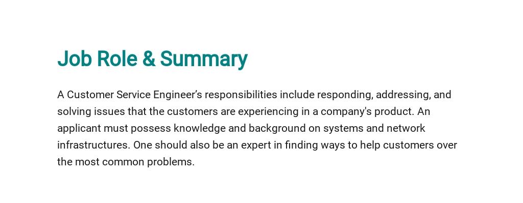Free Customer Service Engineer Job Description Template 2.jpe