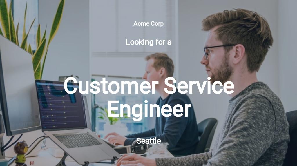 Free Customer Service Engineer Job Description Template.jpe