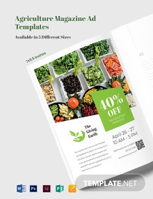 Agriculture Magazine Ads Template
