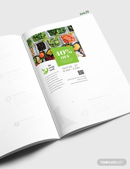 Agriculture Magazine Ad Template