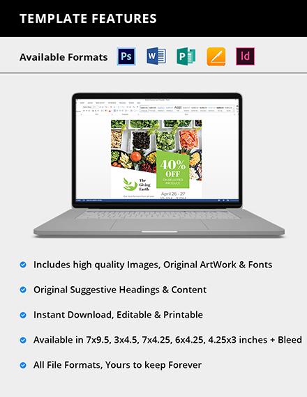 Editable Agriculture Magazine Ad