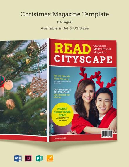 Christmas Magazine Template