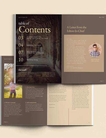 Church Anniversary Magazine Template