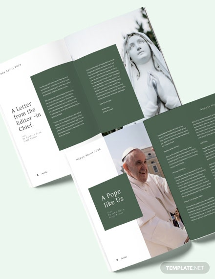 Church Magazine Layout Download