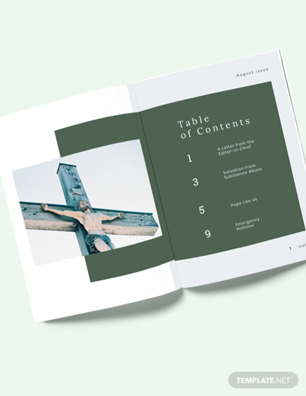 Church Magazine Layout Template