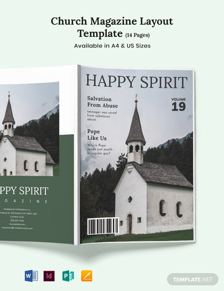 Church Magazine Layout