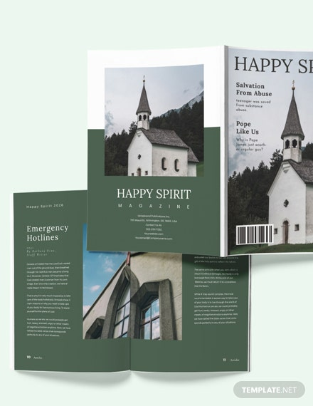 Sample Church Magazine Layout