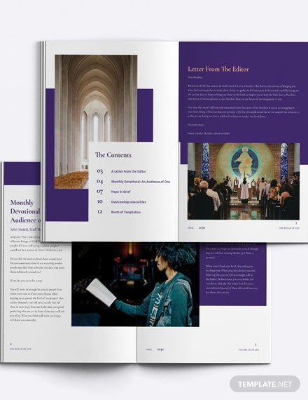 Elegant Church Magazine Template