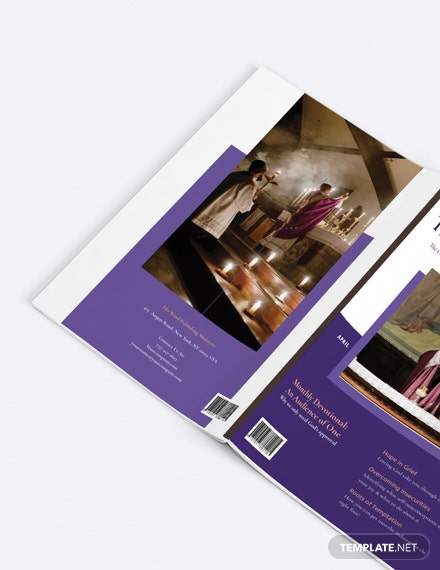 Sample Elegant Church Magazine