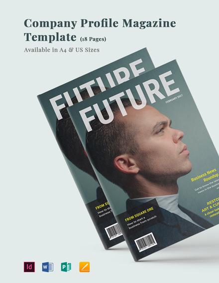 Company Profile Magazine Template