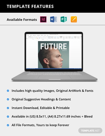 Company Profile Magazine Template [Free Publisher] - InDesign, Word, Apple Pages