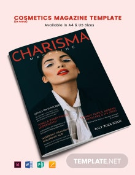 Cosmetics Magazine Template