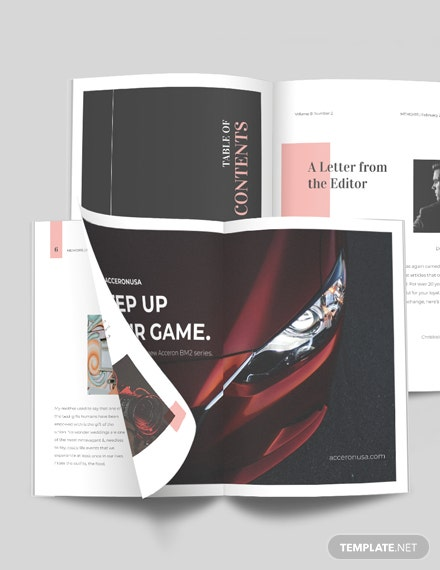 Event Photography Magazine Template