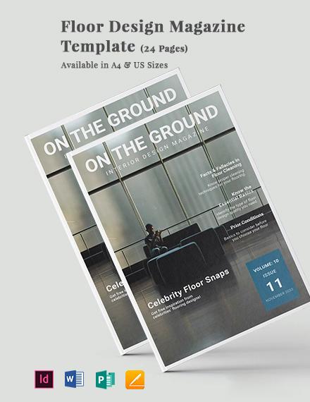 Floor Design Magazine Template