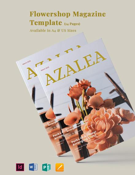 Flower Shop Magazine Template