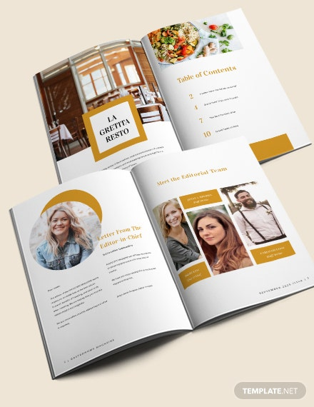 Food  Drink Magazine Template