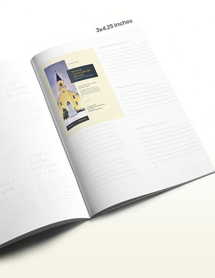 Anniversary Church Magazine Ad Download