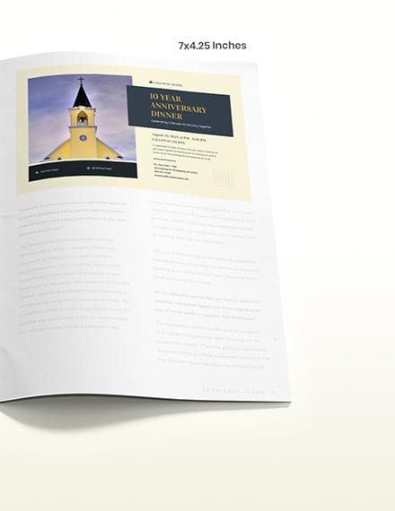 Anniversary Church Magazine Ad Example