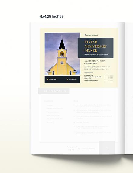 Anniversary Church Magazine Ad Template