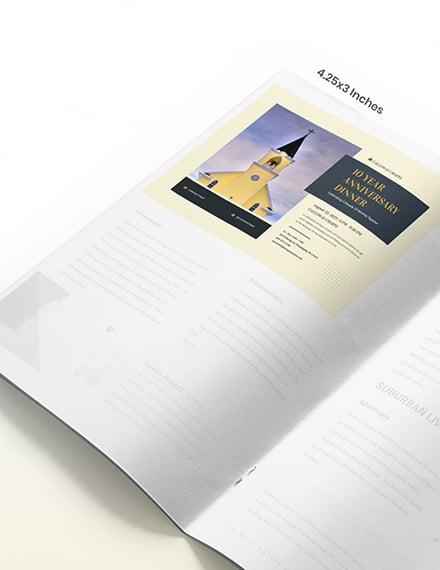 Sample Anniversary Church Magazine Ad