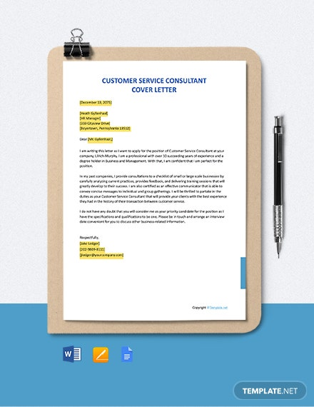 FREE Customer Service Consultant Job Description - Word ...