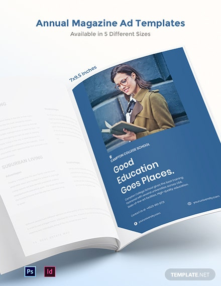 Free Annual Magazine Ads Template