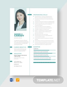 Business Lawyer Resume Template