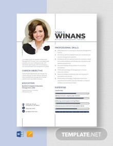 Business Management Trainee Resume Template