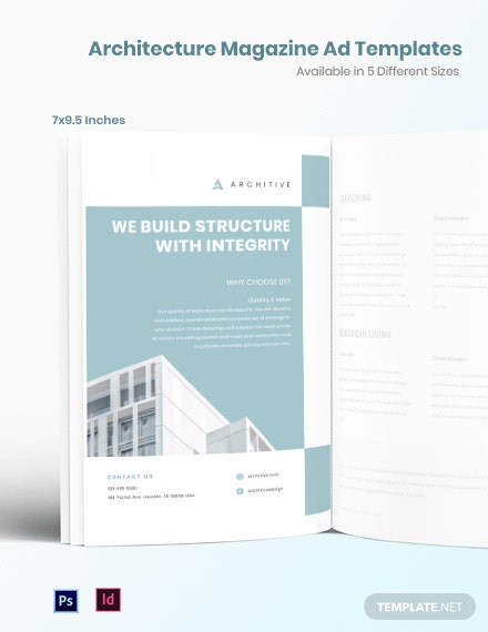 Free Architecture Magazine Ads Template