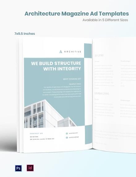Free Architecture Magazine Ads Template