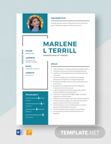 Business Analyst Trainee Resume Template