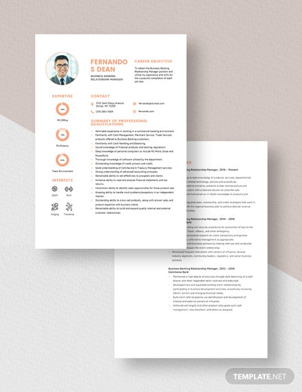 Business Banking Relationship Manager Resume Download