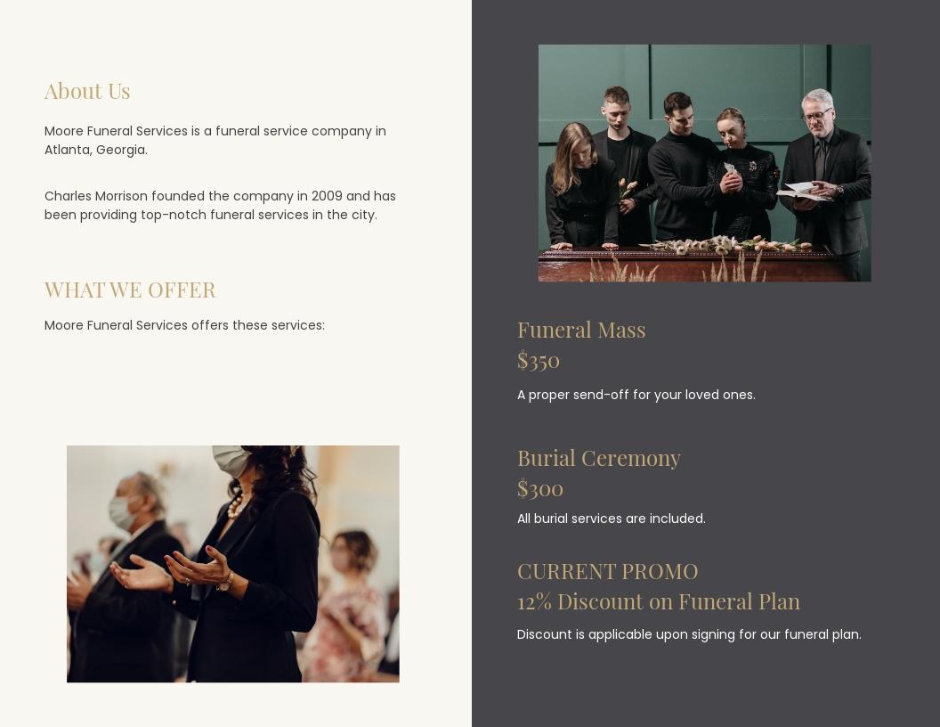 Order of service Funeral Mass Bi Fold Brochure Template 1.jpe