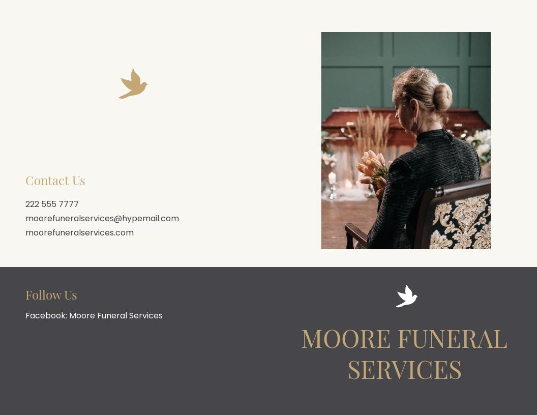 Order of service Funeral Mass Bi Fold Brochure Template.jpe