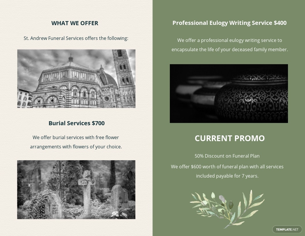 Printable Catholic Funeral Bi Fold Brochure Template 1.jpe