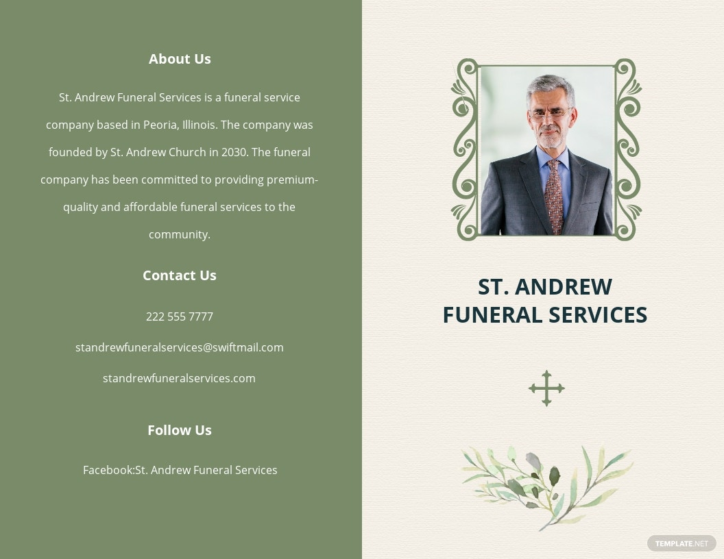 Printable Catholic Funeral Bi Fold Brochure Template.jpe