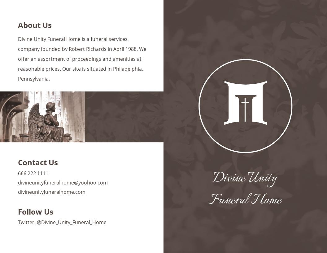 Printable Cremation Funeral Bi Fold Brochure Template.jpe