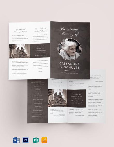 Printable Cremation Funeral BiFold Brochure