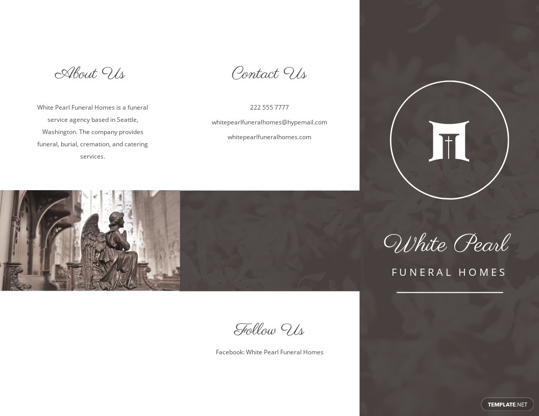 Printable Cremation Funeral Tri Fold Brochure Template.jpe