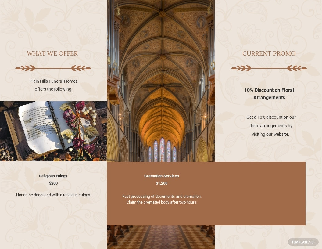 Religious Eulogy Funeral Tri Fold Brochure Template 1.jpe