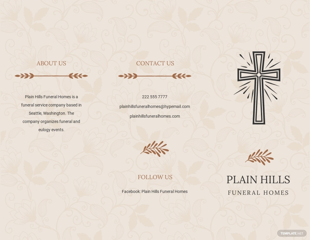 Religious Eulogy Funeral Tri Fold Brochure Template.jpe