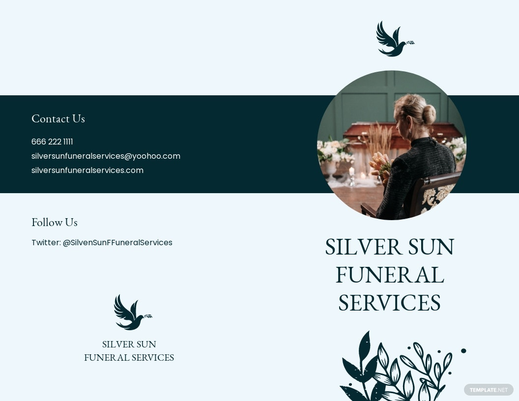 Sample Eulogy Funeral Bi Fold Brochure Template.jpe