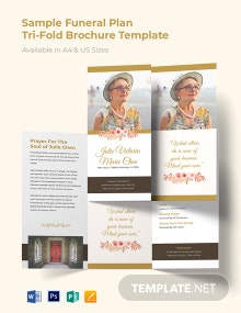 Sample Funeral Plan Tri-Fold Brochure Template