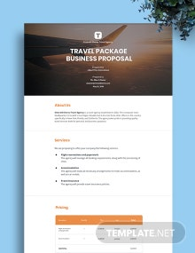 Free Travel Business Proposal Template